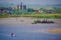 Canoéiste dans le Northumberland Photographie stock libre de droits