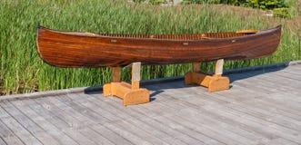 Canoë en bois Images libres de droits