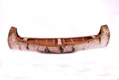 Canoë en bois de bouleau Image libre de droits