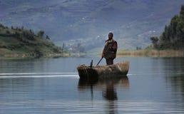 Canoë en Ouganda, Afrique Photographie stock libre de droits