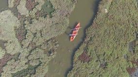 Canoë-kayak au paradis d'oiseau de plage de Calis banque de vidéos