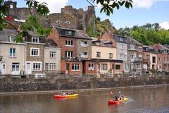 Canoë-kayak en Roche-en-Ardenne de La Photos libres de droits