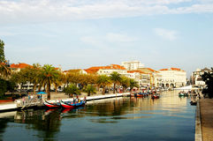 Canoës à Aveiro, Portugal image libre de droits