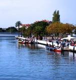 Canoës à Aveiro, Portugal image stock