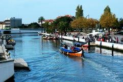 Canoës à Aveiro, Portugal photos libres de droits