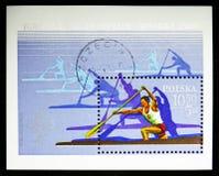 Canoës canadiens simples, Jeux Olympiques 1980 - serie de Moscou, vers 1980 photo stock