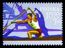 Canoës canadiens simples, Jeux Olympiques 1980 - serie de Moscou, vers 1980 photographie stock libre de droits