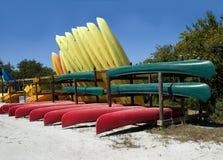 Canoës et kayaks photos libres de droits