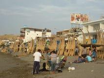 Canoës faits main. photos libres de droits