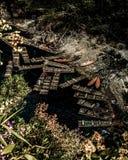 Canoës mexicains de lac du ` s de Montebello image libre de droits
