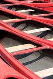 Canoës rouges photos stock