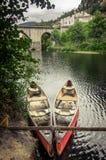 Canoës rouges photo libre de droits