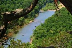 Canoës sur la rivière de ressortissant de Buffalo photos libres de droits