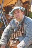 Cano de barro de fumo do soldado Fotografia de Stock Royalty Free