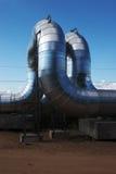 Cano principal de gás novo Foto de Stock