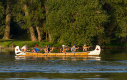 Canoa fotografie stock
