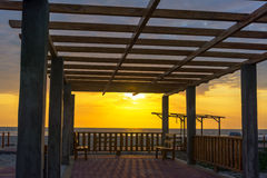 Canoa Beach Sunset Stock Image