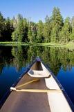 Canoa con la pala Fotografia Stock