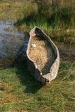 Canoa de madeira Fotografia de Stock Royalty Free