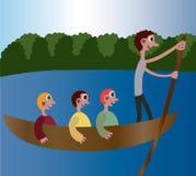 Canoa del fiume Immagine Stock