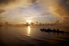 Canoa del mare immagine stock