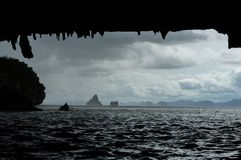 Canoa del mare Fotografia Stock Libera da Diritti