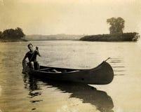 Canoa dell'annata Fotografia Stock