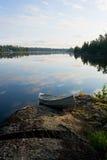 Canoa di alba Fotografia Stock