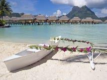 Canoa do casamento Fotografia de Stock