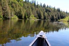 Canoa em Canadian River Imagem de Stock Royalty Free