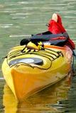 Canoa gialla immagini stock libere da diritti