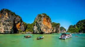 Canoa a Koh Hong Island Fotografie Stock Libere da Diritti
