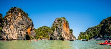 Canoa a Koh Hong Island Immagine Stock Libera da Diritti