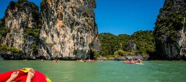 Canoa a Koh Hong Island Immagini Stock