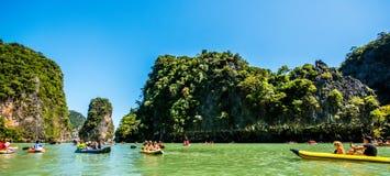 Canoa a Koh Hong Island Fotografia Stock Libera da Diritti