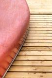 Canoa messa in bacino Fotografie Stock Libere da Diritti