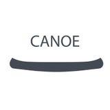 Canoa monocromatica, illustrazione isolata di vettore illustrazione vettoriale