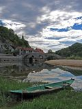 Canoa nel lago fotografia stock libera da diritti
