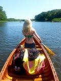Canoa nelle paludi d'acqua salata Immagine Stock Libera da Diritti
