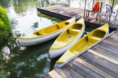 Canoa no parque de Lumpini Foto de Stock Royalty Free