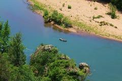 Canoa no rio do nacional do búfalo Imagem de Stock