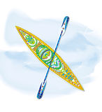 Canoa, pintura decorativa Imágenes de archivo libres de regalías