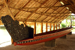 Canoa polinesiana fotografia stock