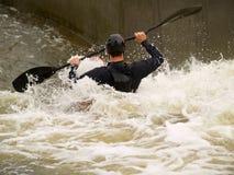 Canoa selvaggia dell'acqua Fotografie Stock Libere da Diritti