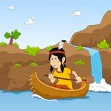 Canoa sul fiume Fotografia Stock