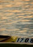 Canoa y agua Foto de archivo libre de regalías