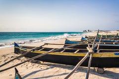 Canoas de la pesca imagen de archivo libre de regalías