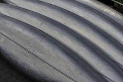 Canoas del metal - modelo/fondo Imagenes de archivo