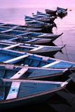 Canoas em Amazónia fotografia de stock