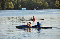 Canoas em um lago Imagem de Stock Royalty Free